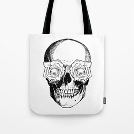 Skull and Roses | Black and White Tote Bag
