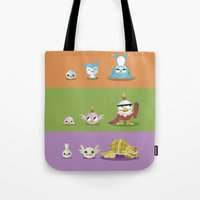 digimon Tote Bags featuring Hey Digimon, hey Digimon!  by Sindorman