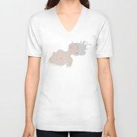 fig V-neck T-shirts featuring Fig. 2 by Lala Gallardo