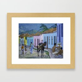 Trinidad Lifestyle Oil On Canvas Framed Art Print
