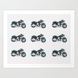 Mini Motorcycle Art Print