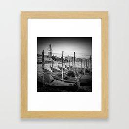 VENICE Grand Canal and St Mark's Campanile   Monochrome Framed Art Print