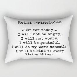 Reiki Principles, Just For Today, Positive, Words Rectangular Pillow