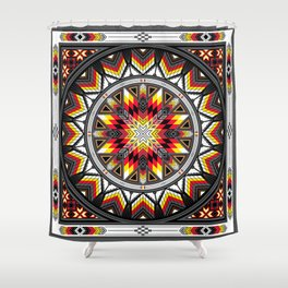 Sacred Places Red Shower Curtain