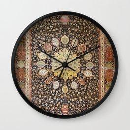 Ardabil Persian Safavid Carpet Print Wall Clock