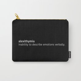 Alexithymia Carry-All Pouch
