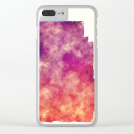 Minneapolis city watercolor map in front of a white background Clear iPhone Case