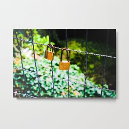 Love Locks Metal Print