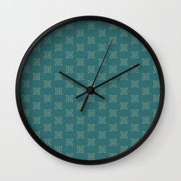 Geometric Flower dark shadows Wall Clock
