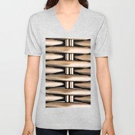 Bamboo Weft by FreddiJr Unisex V-Neck