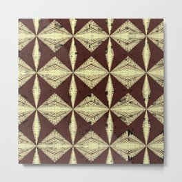 Diamondback Pattern Metal Print