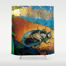 Gilded Beetle Shower Curtain