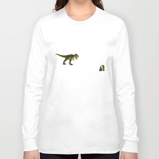 Dinosaurs vs Toy Soldiers Long Sleeve T-shirt