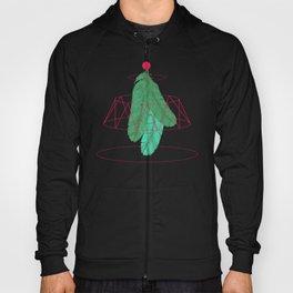 blugreenish circled feathers Hoody