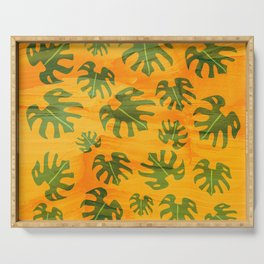 Cheese Plant Pattern Serving Tray