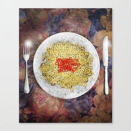 L'italiano vien mangiando Canvas Print