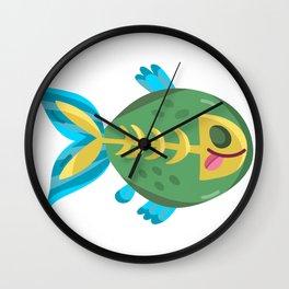 Cute Piranha Wall Clock