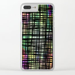 DP035-6 Colorful striped Clear iPhone Case