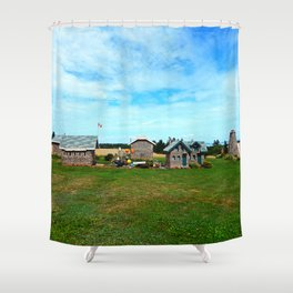 Hannah's Bottle Village Shower Curtain