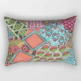 Clustered together Rectangular Pillow