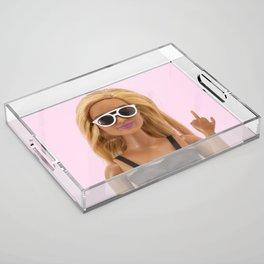 K Bye :) Acrylic Tray