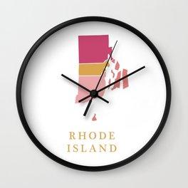Rhode Island map Wall Clock