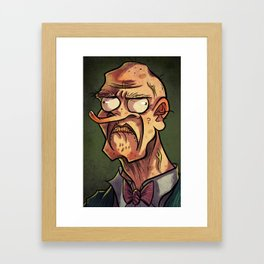 I Frown At You. Framed Art Print