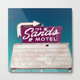 Motel Drive / Sands Motel Sign / Retro Style Metal Print