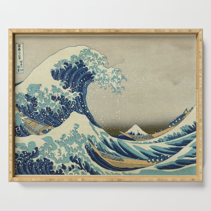 The Great Wave off Kanagawa Serving Tray