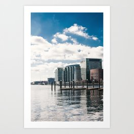 View from Boston Harbor Art Print