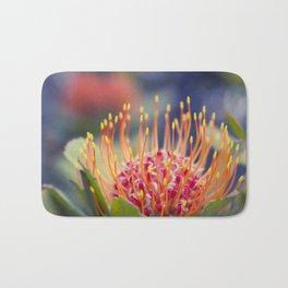 Tropical Sunburst - Leucospermum Pincushion Protea Flower Bath Mat