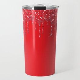 red glitter Travel Mug