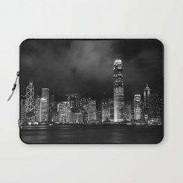 Hong Kong Skyline [Black & White] Laptop Sleeve