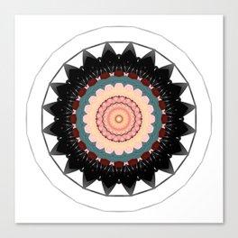 Mandala blossom / centro Canvas Print