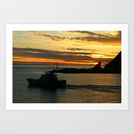 The End Of A Beautiful Day Art Print