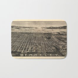 Aerial View of Berkeley, California (1909) Bath Mat
