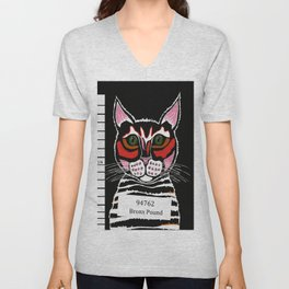 Cat Mug Shot Unisex V-Neck
