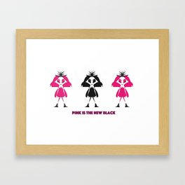 Pink Is The New Black Framed Art Print