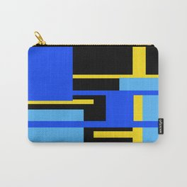 Rectangles - Blues, Yellow and Black Carry-All Pouch