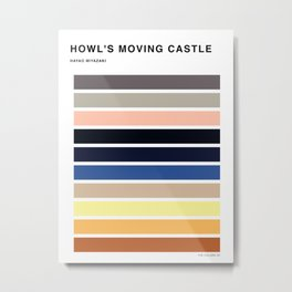 The colors of - Howl's moving castle Metal Print