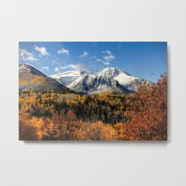 Winter Mountain In Autumn Utah Metal Print