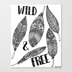 Wild & Free Feathers Canvas Print