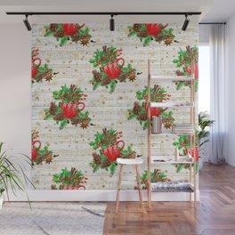 Christmas pine cones #2 Wall Mural