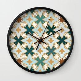Blue Lotus Star Tile Wall Clock