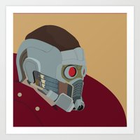 starlord Art Prints featuring Starlord by AWAL