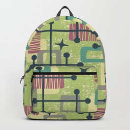 Mid Century Modern Abstract Pattern 832 Backpack