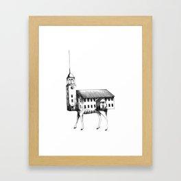 Iglesia con patas / Church with legs Framed Art Print