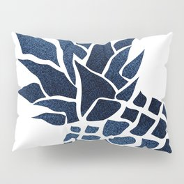 Pineapple, Big Blue, Denim Navy Pillow Sham