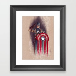 American Made Hero Framed Art Print