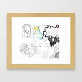 My poetry in Russian and French Framed Art Print
